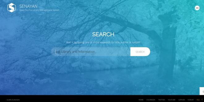 رابط کاربری جستجو در نرم افزار SLIMS