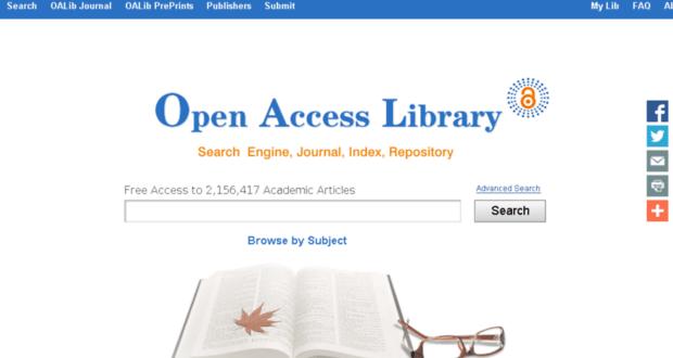 معرفی کتابخانه دسترسی آزاد (OALib)