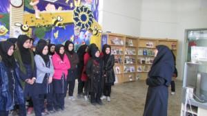 بازدید مدارس از کتابخانه