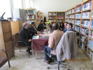 دیدار  اعضای شورا و شهردار با کتابداران