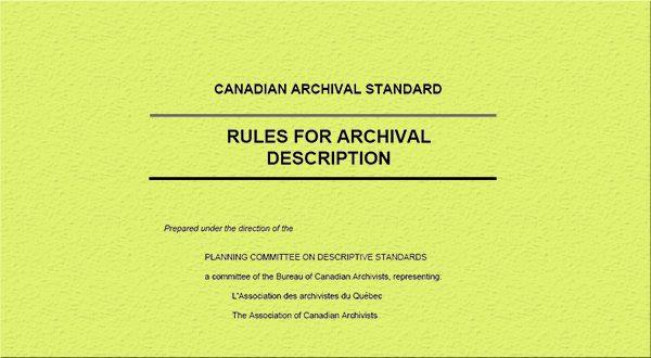 استانداردهای تنظیم و توصیف اسناد آرشیوی – شماره سوم
